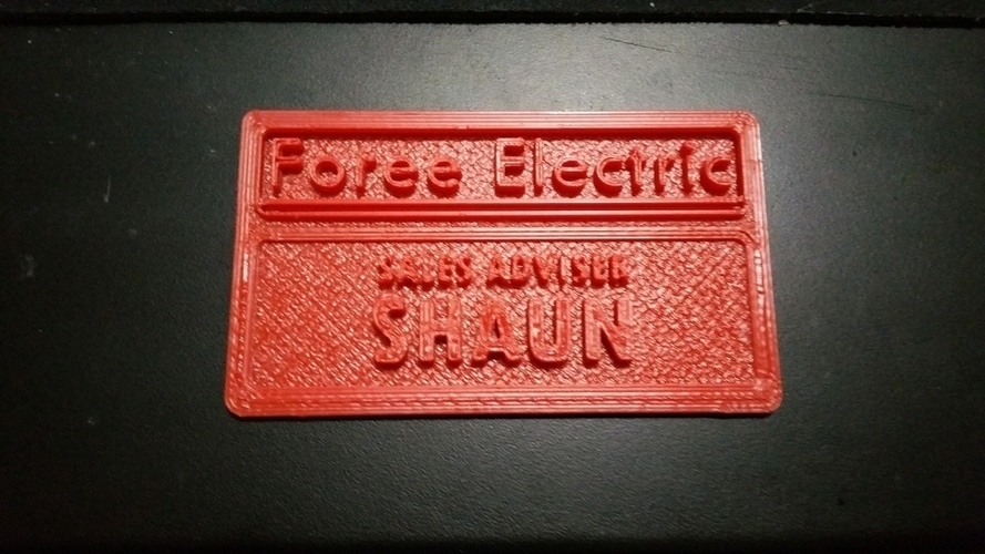 Shaun's nametag from Shaun of the Dead 3D Print 102485
