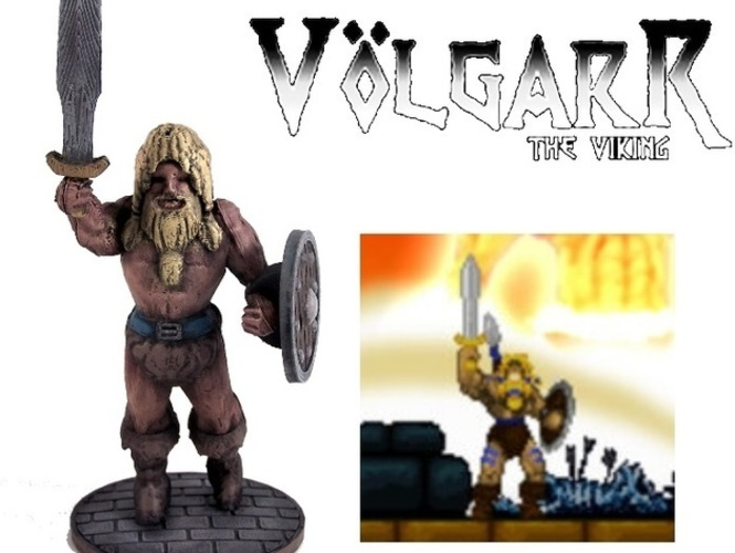 Volgarr the Viking 3D Print 1025