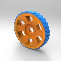 Small Wheel for Printbots (designed for 20g servos) 3D Printing 102535