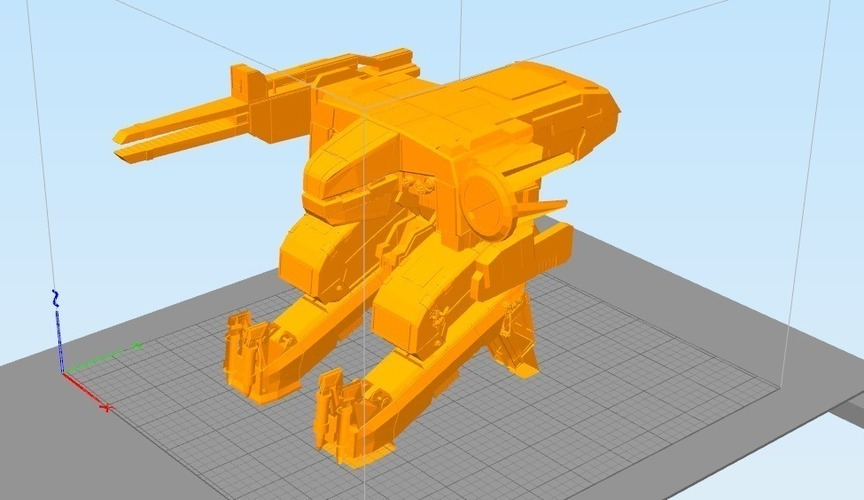 Detailed Metal Gear Rex 3D Print 102558