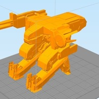 Small Detailed Metal Gear Rex 3D Printing 102558