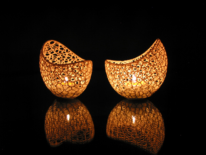 Filigree double wall tealight holder 3D Print 102565