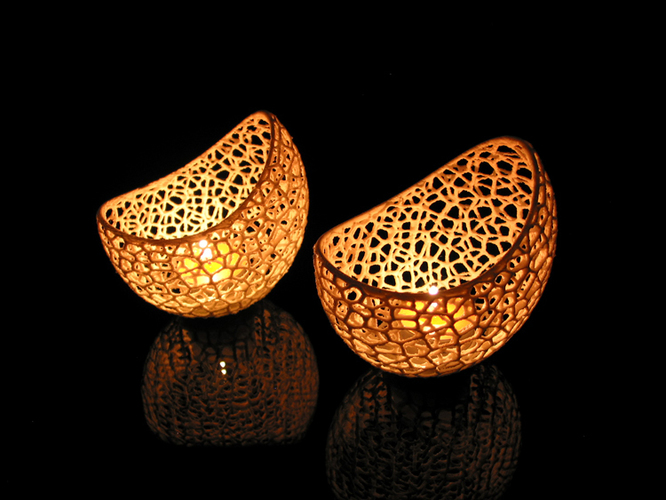 Filigree double wall tealight holder 3D Print 102567