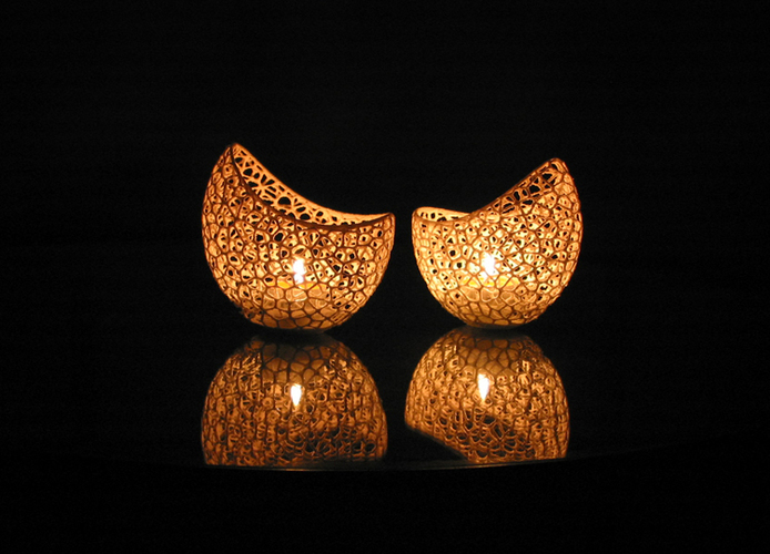 Filigree double wall tealight holder 3D Print 102568