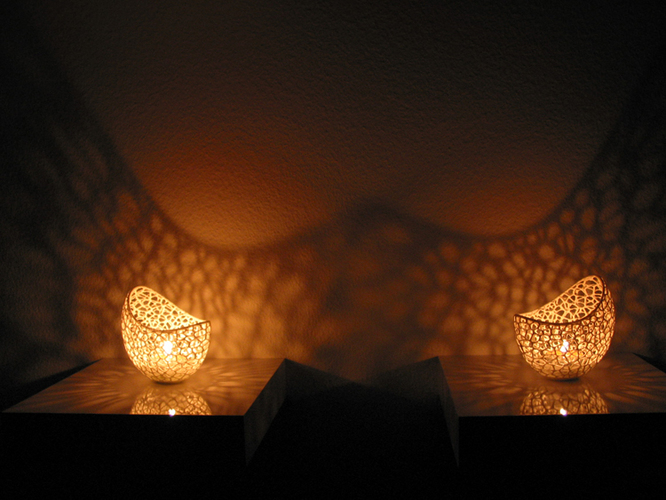 Filigree double wall tealight holder 3D Print 102569