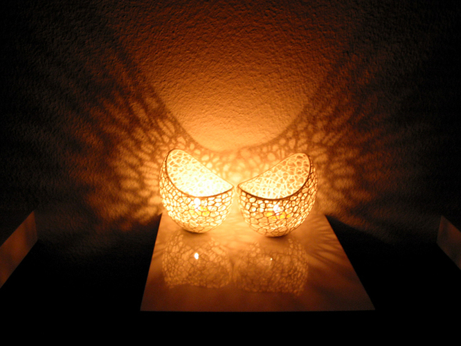 Filigree double wall tealight holder 3D Print 102574