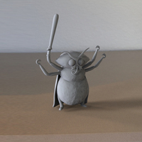 "Small Abraham, the mutant moth from ""Marvin and the Moths"" 3D Printing 102575"