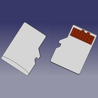 Small MICRO SD MEMORY CARD 3D Printing 102619