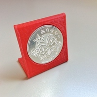 Small Coin stand 40mm 3D Printing 102623