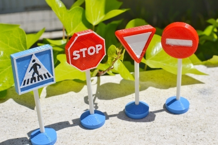 Traffic signs toy 3D Print 102630