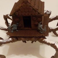 Small House Spider plattform for tabletop games 3D Printing 102699