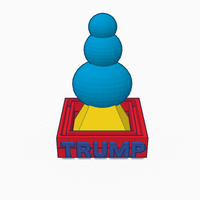Small 2k16 Trump Tower 3D Printing 102830
