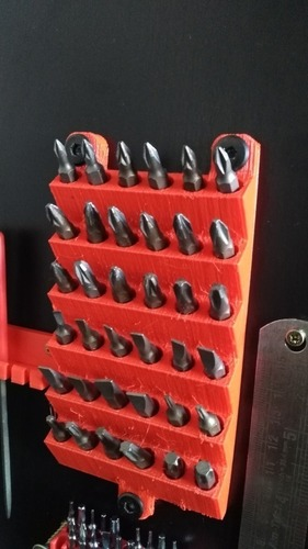 wall mounted screwdriver bit holder 3D Print 102846