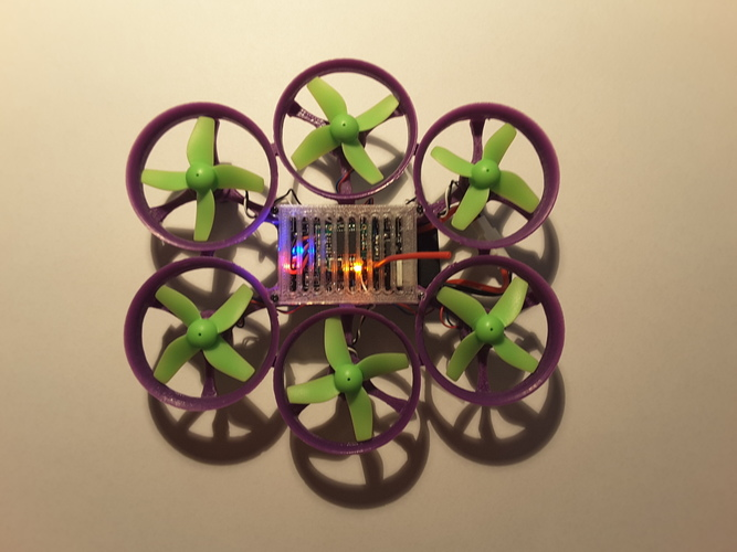 Hexantrix 80mm: Tiny Whoop hexa based on spf3 brushed 3D Print 102862