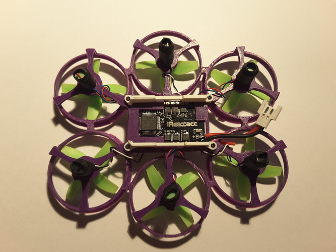 Hexantrix 80mm: Tiny Whoop hexa based on spf3 brushed 3D Print 102866