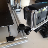 3D Printed GoPro Mount for Hictop Prusa i3 by Andy Hud | Pinshape