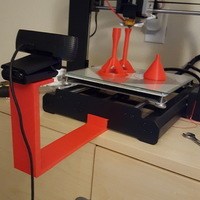 Small Duplicator i3 (Maker Select) v2 Camera Mount (with tripod hole) 3D Printing 102950