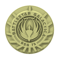 Small Battlestar Galactica Badge 3D Printing 103009