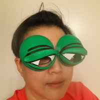 Small Pepe the Frog Holloween Costume Eyeglasses Tie-on 3D Printing 103022
