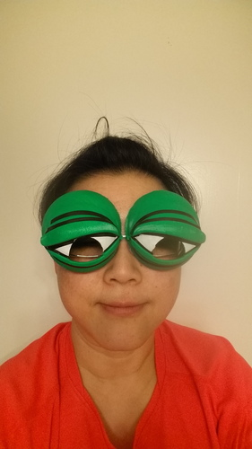 Pepe the Frog Holloween Costume Eyeglasses Tie-on 3D Print 103024