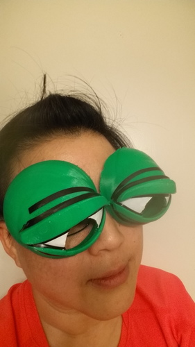 Pepe the Frog Holloween Costume Eyeglasses Tie-on 3D Print 103026