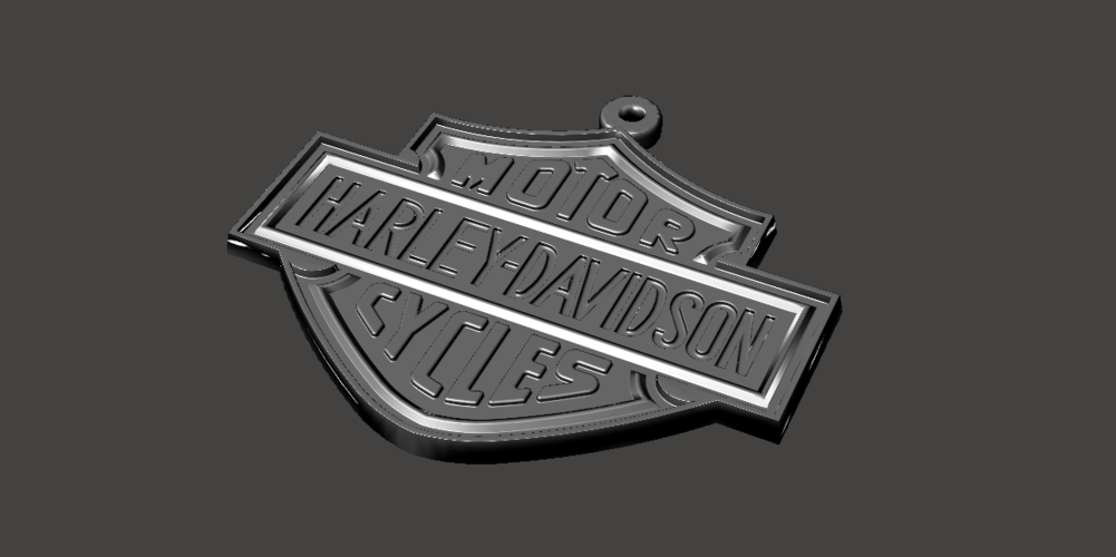 3d printed harley davidson keychain by donegal3d gmail com pinshape