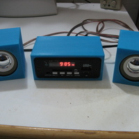 Small Mini audio system with speakers 3D Printing 103077