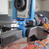 Small ar drone go pro hero 3 holder remix 3D Printing 103101