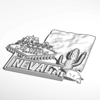 Small Nevada  Fridge Magnet 3D Printing 103149
