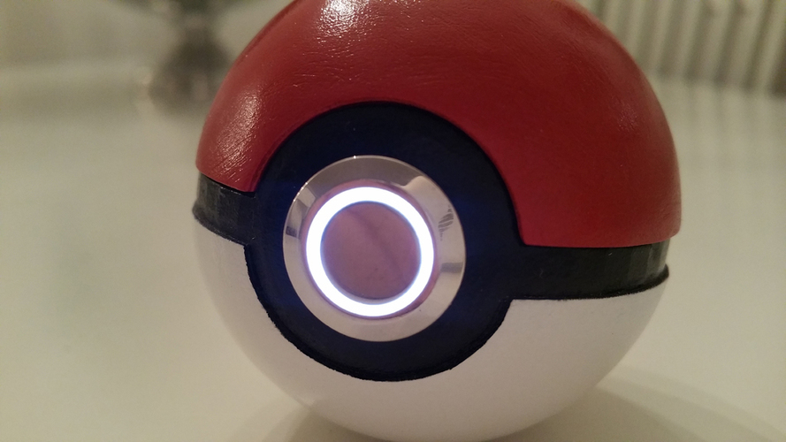 3D printed Pokemon Pokeball -with LED light 3D Print 103161