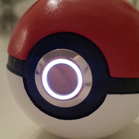 Small 3D printed Pokemon Pokeball -with LED light 3D Printing 103161