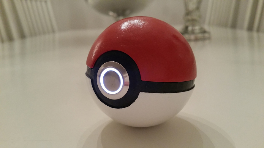 3D printed Pokemon Pokeball -with LED light 3D Print 103162