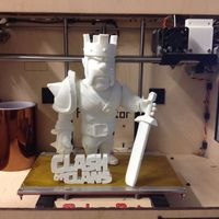 Small CLASH OF CLANS BARBARIAN KING  3D Printing 103185