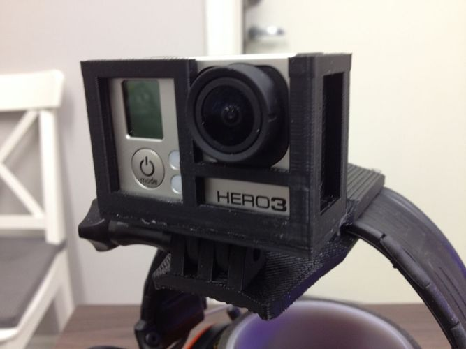 GoPro Headmount for headgear 3D Print 103196