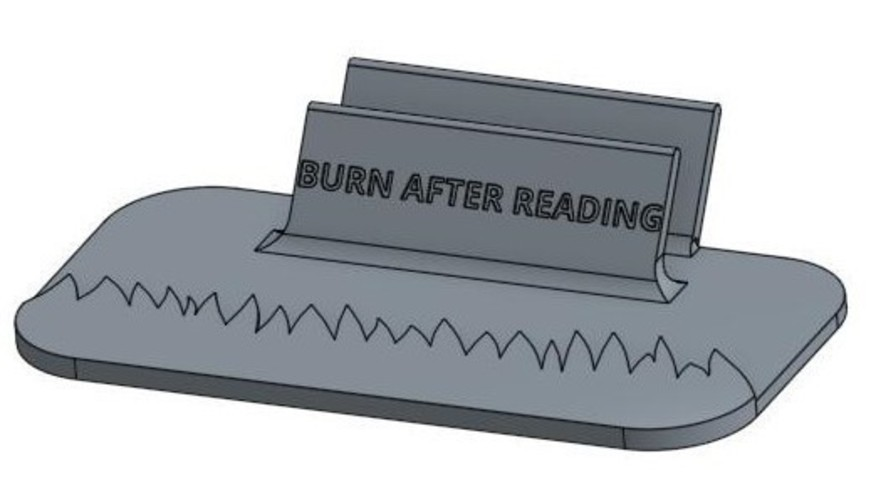 Burn After Reading Letter Holder 3D Print 103232