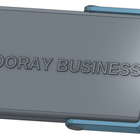 Small Hooray Business! Business Card Holder 3D Printing 103350