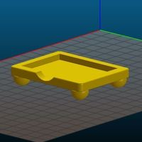 Small Post It Note Holder Small Size 3D Printing 103434
