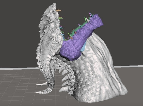 Medium Dragon Bust by Robwzor (open mouth) 3D Printing 103438