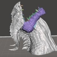 Small Dragon Bust by Robwzor (open mouth) 3D Printing 103438