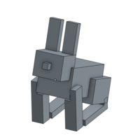 Small Minecraft Rabbit 3D Printing 103500