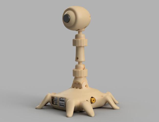3D Printed LookPrint for OctoPrint Raspberry Pi by jovi_info