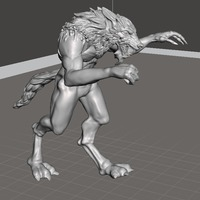 Small Escaped Werewolf 3D Printing 103540