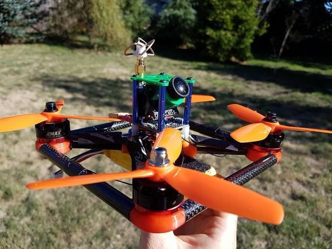 Uber 180 Redesign -- No Supports Needed, VTX + Cam Mounts, Motor 3D Print 103556