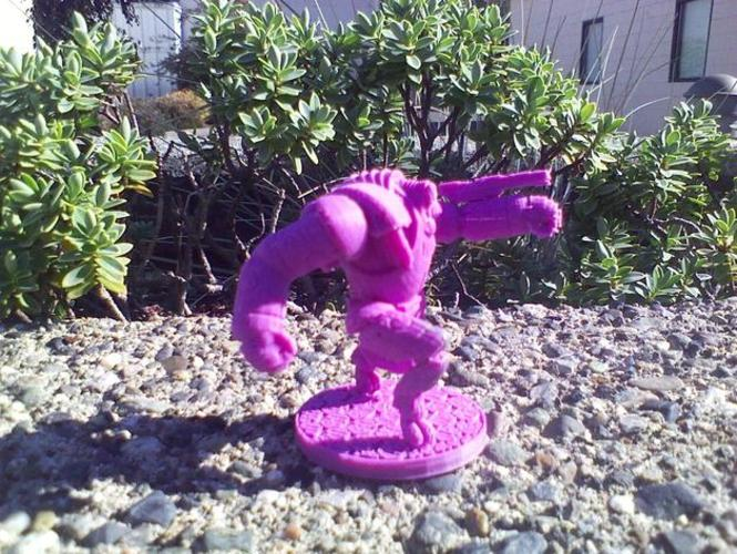 House Vermeni Guardian Mech, Advancing 3D Print 1036