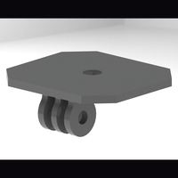 Small DSLR GoPro Style Mount 3D Printing 103705