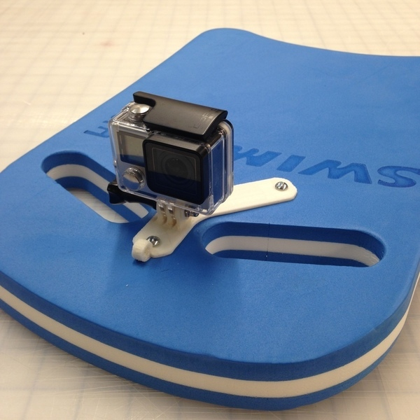 Medium GoPro Kick Board Mount 3D Printing 103707