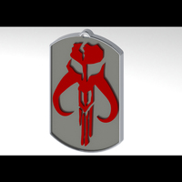 Small Mandalorian Dog Tag 3D Printing 103733