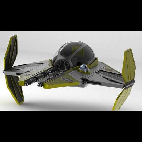 Star Wars Jedi Interceptor 3D Print 103749
