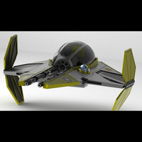 Small Star Wars Jedi Interceptor 3D Printing 103749
