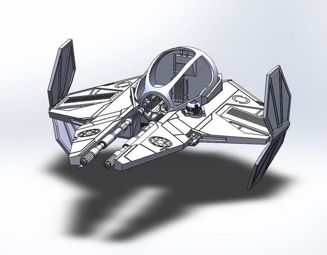 Star Wars Jedi Interceptor 3D Print 103752